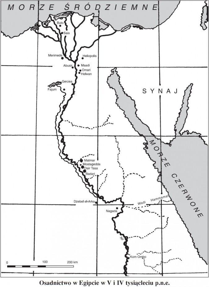 Osadnictwo w Egipcie w V i IV tysiącleciu p.n.e.