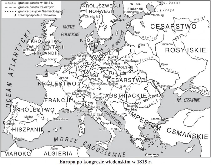Europa po kongresie wiedeńskim w 1815 roku