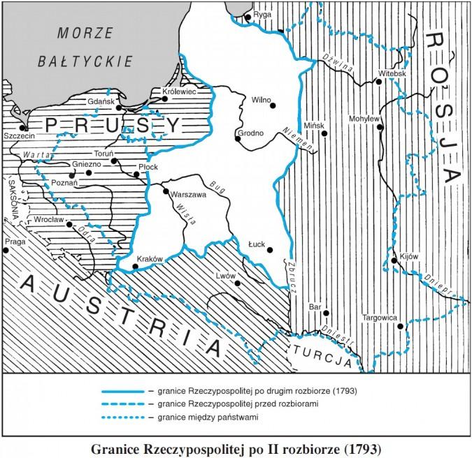 Granice Rzeczypospolitej po II rozbiorze