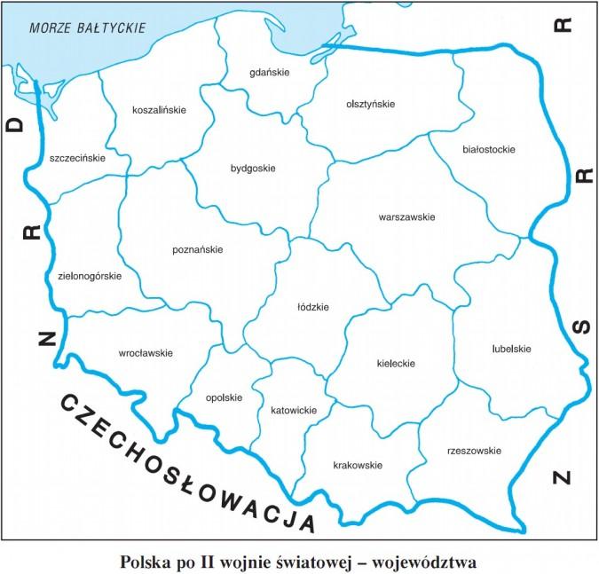 Polska po II wojnie światowej - województwa