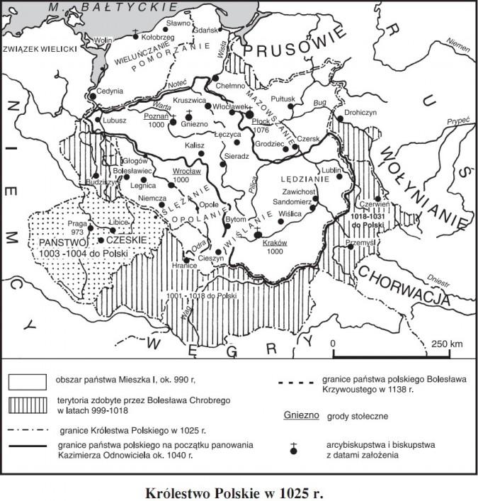 Królestwo Polskie w 1025 r.