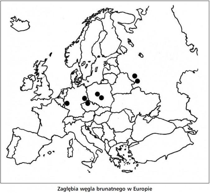 Zagłębia węgla brunatnego w Europie.