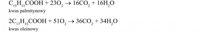 Własności chemiczne wyższych kwasów karboksylowych. Kwas palmitynowy, kwas oleinowy.