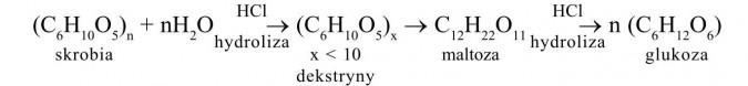 Wielocukry. Skrobia, hydroliza, dekstryny, maltoza, hydroliza, glukoza.