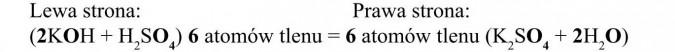 Lewa strona, prawa strona. 6 atomów tlenu.