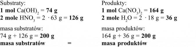 Prawo zachowania masy. Substraty, produkty. Masa substratów, masa produktów.